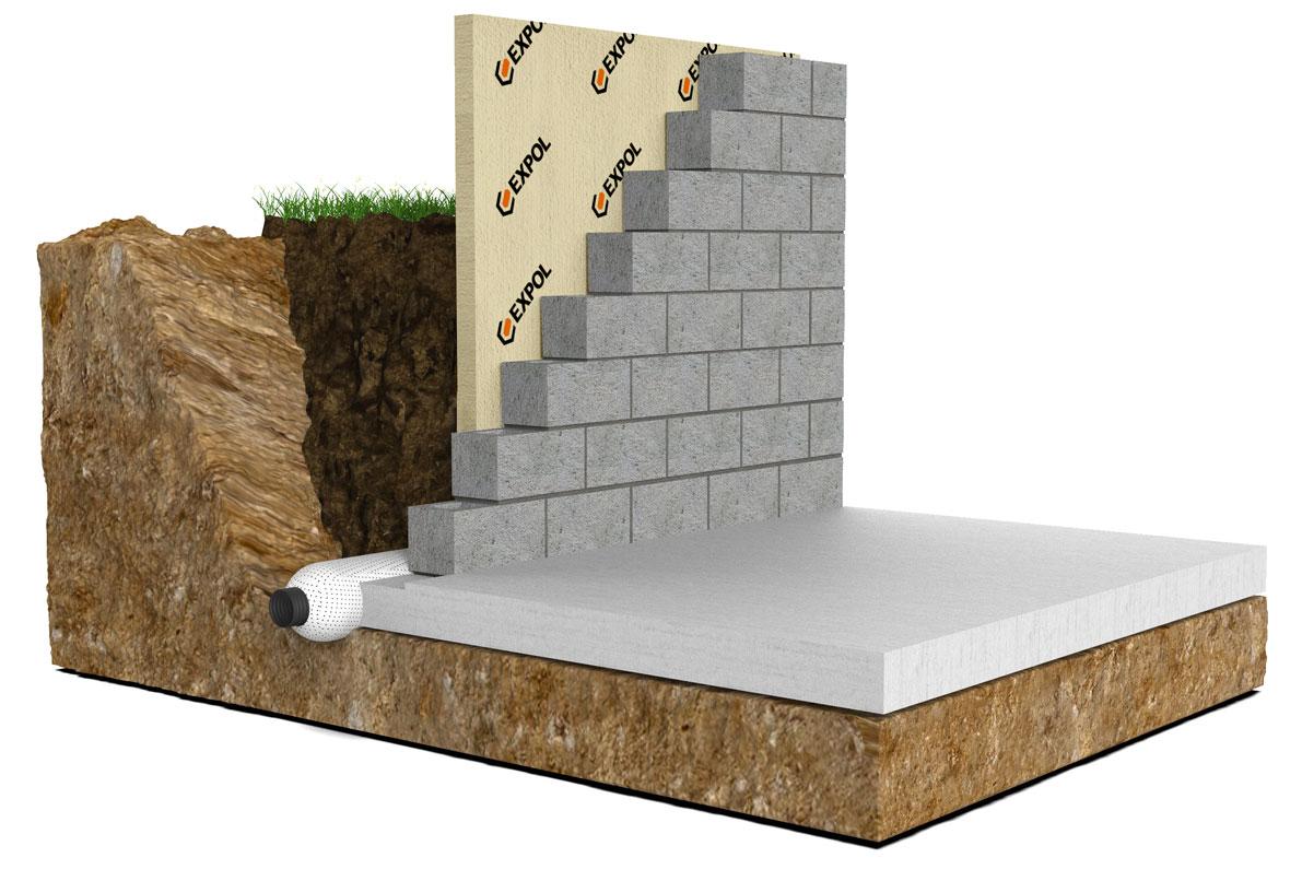 Retaining wall insulation