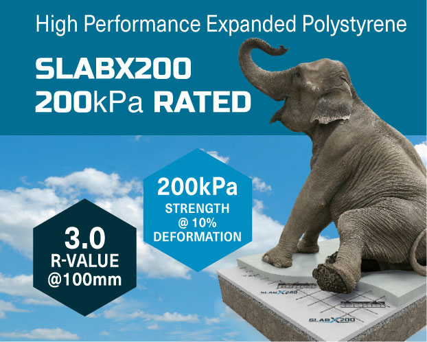 EXPOL-SlabX200-Product-high performance 200kPa Rated Insulation for Concrete Slabs